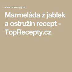 Marmeláda z jablek a ostružin recept - TopRecepty.cz