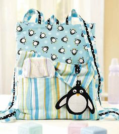 Baby Penguin Backpack Sewing Pattern | PatternPile.com – Hundreds of Patterns for Making Handbags, Totes, Purses, Backpacks, Clutches, and more.