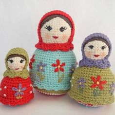 The Matryoshka Sisters Crochet Babushka Amigurumi Dolls