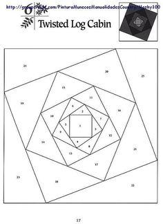 Шаблоны для пэчворка 101 Foundation-Pieced Quilt Blocks 017