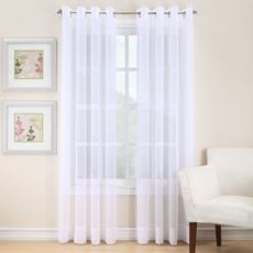 Marvelous Bed Bath U0026 Beyond   Sheer Curtain Drapes Curtains, White Curtains, Window  Panels,