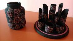 DIY vase and desk organiser