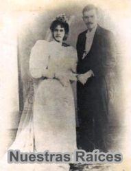 Los abuelos Ramón Morales Robleto y Salvadora Bolaños Morales el dia de su boda Granada 1850.Don Ramón Morales Robleto y doña Salvadora Bolaños Morales, Granada 1850