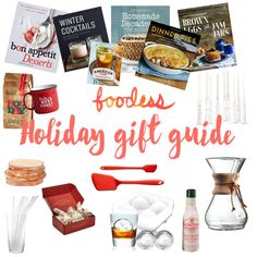 A roundup of gifts for cookbook hoarders, cocktail-lovers, coffee nerds and anyone who likes to eat!