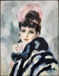 Femmes à chapeau (171) John Frederick Lloyd Strevens (1902-1990)