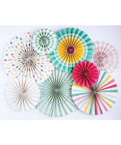 Look at this #zulilyfind! Hooray Party Fan Set #zulilyfinds