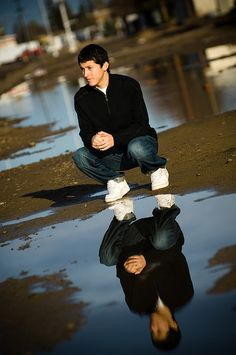 Senior picture idea---if I can find a puddle somewhere - Carry a bottle of water with you and make your own puddle