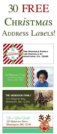Festive Phrase -- Christmas Address Labels Christmas Pinterest - free christmas return address labels template