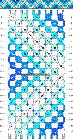 Normal Friendship Bracelet Pattern #1469 - BraceletBook.com