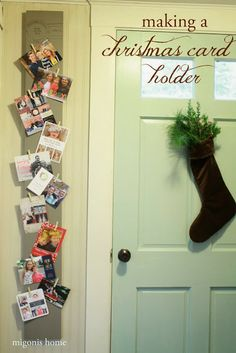 Making a Christmas Card Holder...love this idea from Migonis Home!