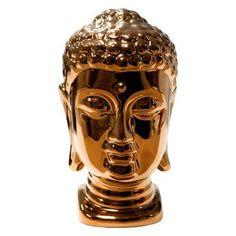 Sagebrook Home Ceramic Buddha Head Color: Bronze Gold Home Accessories, Decorative Accessories, Contemporary Decorative Objects, Zen Style, Boho Style, Head Statue, Gold Home Decor, Buddha Head, Bronze Sculpture