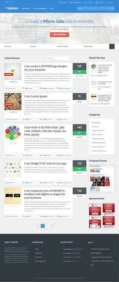 Taskerr WordPress Theme like #Fiverr and #PeoplePerHour - www.wpchats.com