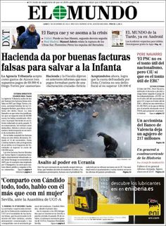 Los Titulares y Portadas de Noticias Destacadas Españolas del 2 de Diciembre de 2013 del Diario El Mundo ¿Que le pareció esta Portada de este Diario Español?