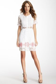 Alexis Beaded Lace Trim Dress by Red, White & Blue on @HauteLook