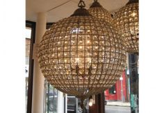 Beautiful Chelsea Pendant Lights. These will certainly give the WOW factor to any room or entrance hall.   The crystal chandeliers are available in 3 sizes & each one comes with 1m of chain.     Pendant Small Bronze £325   Pendant Medium Bronze £475  Pendant Large Bronze £795
