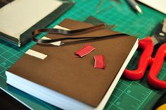book binding - strapped signatures