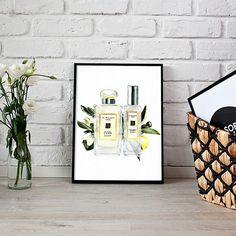 Jo Malone perfume illustration etsy.me/2pcYj3B