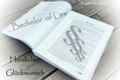 Hochzeit - Karte  Prüfung Examen Bachelor - ein Designerstück von Gabriele-Jentsch bei DaWanda