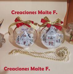 FOFUCHAS. Manualidades y Creaciones Maite: BOLAS DE NAVIDAD CON PAISAJE NEVADO Christmas Bulbs, Christmas Crafts, Biscuit, Craft Tutorials, Pop Up, Snow Globes, Learning, Holiday Decor, Bottles