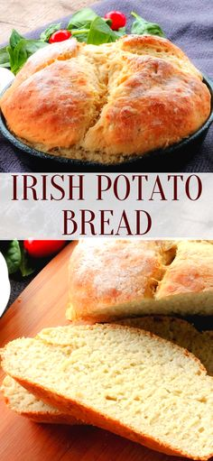 Irish Potato Bread is a quick and easy bread recipe you make without yeast, Your going to LOVE it! Irish Potato Bread is a quick and easy bread recipe you make without yeast, Your going to LOVE it! Quick Bread Recipes, Banana Bread Recipes, Baking Recipes, Quick And Easy Recipes, Easy Irish Recipes, Cornbread Recipes, Jiffy Cornbread, Turkish Recipes, Irish Potato Bread
