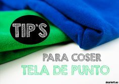 Algunos consejos para coser tela de punto fácilmente Embroidery Patterns, Knitting Patterns, Sewing Patterns, Sewing Hacks, Sewing Tutorials, Sewing Tips, Learn To Sew, Sewing Techniques, Pattern Making