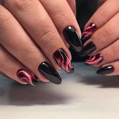 65 Winter Nail Designs for the Christmas – Page 59 of 77 – Soflyme – Nail Art Ideas 2020 Marble Acrylic Nails, Acrylic Nail Designs, Nail Art Designs, Nails Design, Matte Nails, Black Nails, Cat Eye Nails, Winter Nail Designs, Super Nails