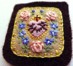 Embroidered Brown Scapular Sacred Heart of by StellaMarigoldArt
