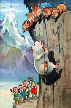 Gulliver Guinea Pig: Abseiling (Original) art by Gulliver Guinea Pig (Mendoza)