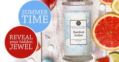 Summer-Time_Banner Imperial Candles, Unique Candles, Sorbet, Drink Bottles, Summer Time, Banner, Drinks, Food, Banner Stands