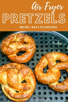 Air Fryer Soft Pretzels are a wonderful snack to make in the Air Fryer. Perfect for your next party or family get-together. I'll give you the keys to success to make sure your Air Fryer Soft Pretzels are a raving hit! Air Fryer Oven Recipes, Air Frier Recipes, Air Fryer Dinner Recipes, Homemade Soft Pretzels, Pretzels Recipe, Air Fryer Pork Chops, Air Fried Food, Pretzel Dough, Pretzel Bites
