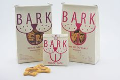 "The packaging is a ""doggy"" to-go bag, and the transparent window where the dog's mouth is, allows consumers to see the dog treats. Dog Treat Packaging, Cool Packaging, Design Packaging, Packaging Ideas, Dog Snacks, Dog Treats, Animal Design, Dog Design, Dog Bakery"
