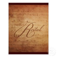 Musical Recital Antique Sheet Music Custom Personalized Invite   Just Sold on Zazzle