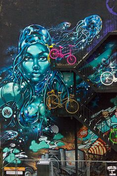 Earth, Wind, Fire and Water Graffiti Art Mural in Manchester (109)