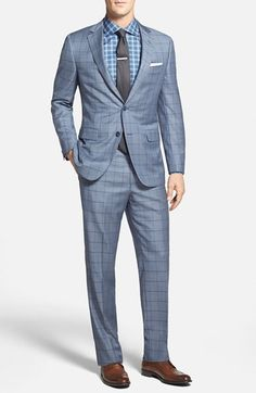 Samuelsohn Classic Fit Windowpane Wool Suit available at #Nordstrom