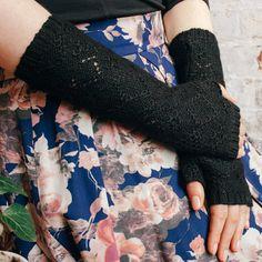 Mitaines noirs - baby alpaga arm warmers - cadeau pour elle - laine mitaines - mitaines en tricot - alpaga gants