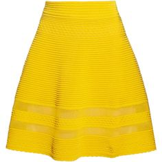 M Missoni Cotton-blend A-line skirt ($280) ❤ liked on Polyvore featuring skirts, bottoms, yellow, missoni, saias, bright yellow, scallop hem skirt, a-line skirt, scalloped skirt and pull on skirts