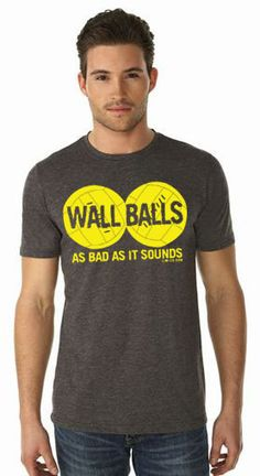 Wallballs - as bad as it sounds men's CrossFit inspired tshirt | M-2x