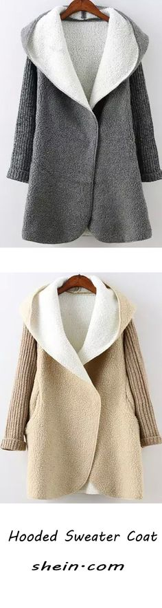 This sweater topcoat is super cozy and chic enough! Two colors will be supplied ,grey and beige are Fall Outfits, Cute Outfits, Sweater Coats, Sweaters, Modelista, Grey And Beige, Autumn Winter Fashion, What To Wear, Cashmere