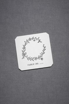 escort card coaster