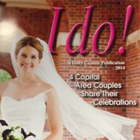Happy to have our bride Erica featured on this cover of I Do ! The Daily Gazette bridal show is Jan. 26, 2014.