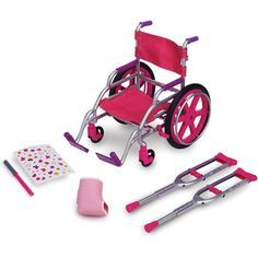 My Life As doll Wheelchair Set. Find this at Wal*Mart in the My Life As doll isale. (I think I spelled that right. Baby Alive Food, Baby Alive Dolls, Girl Doll Clothes, Girl Dolls, My Life Doll Stuff, Doll Wheelchair, Our Generation Doll Accessories, Poupées Our Generation, American Girl Doll Sets
