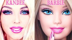 Hi-Speed Barbie Transformation with Makeup - watch from girl to Barbie in 1.5 minutes: