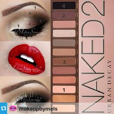 step by step using the Naked2 Palette @urbandecaycosmetics. I used the Primer Po