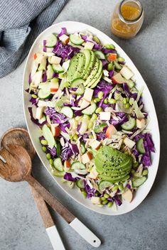Cabbage Salad w/ Apples, Cucumber & Avocado
