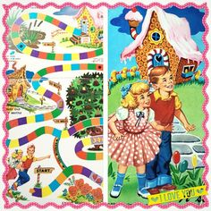 How awesome are the graphics of this original 1955 #vintage Candy Land Game??! I think I'm in love!  #candyland #vintagegame #candy #thriftstore #thrifting #thrifter #vintagetoy #cute #vintagegraphics #50s #retro #retrotoy