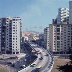 1966 Princess magaret Road flyover.   by fong.laikuen History Of Hong Kong, British Hong Kong, World Cities, Historical Pictures, Past, Memories, Explore, Landscape, Architecture