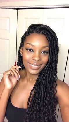 17 super Ideas for hair black women braids faux locs Black Girl Braids, Braids For Black Women, Braids For Black Hair, Girls Braids, Fun Braids, Braids Cornrows, Faux Locs Hairstyles, African Braids Hairstyles, African Hair Braiding
