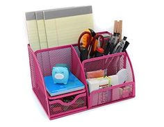 solve your desk problem with the pink organize !!! in a Sale !
