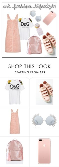 """""""Untitled #5"""" by notosuper on Polyvore featuring Dolce&Gabbana, adidas, Topshop, Linda Farrow and Marc Jacobs"""