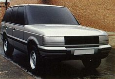 Range Rover Mk2 clay model. This winning design proposal 'Pegasus' was prepared by George Thomson's styling team.